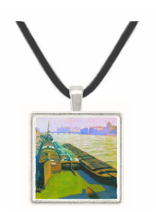 Barges on the banks of the Seine by Felix Vallotton -  Museum Exhibit Pendant - Museum Company Photo