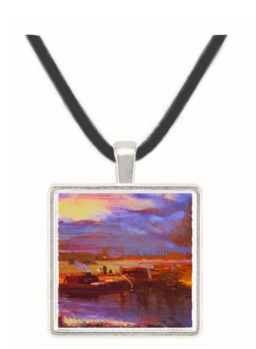 Barges on the Stour - John Constable -  Museum Exhibit Pendant - Museum Company Photo