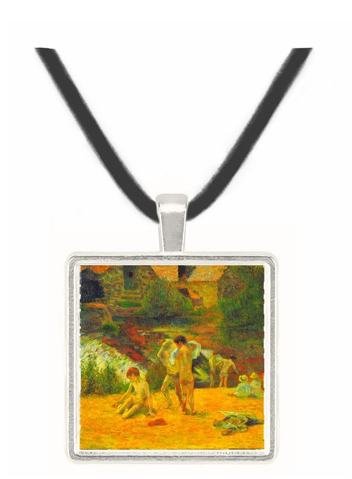 Bathing in the mill of Bois d'Amour by Gauguin -  Museum Exhibit Pendant - Museum Company Photo