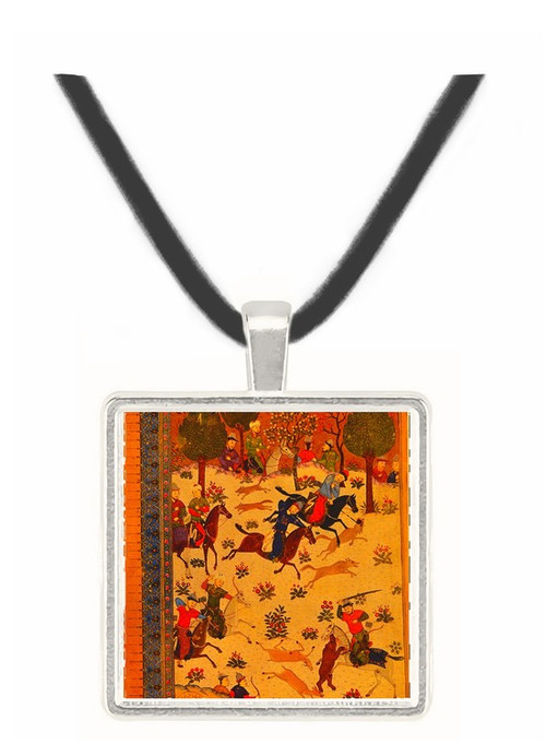 Battle in the Presence of... - Shahnameh of Baysunqur -  Museum Exhibit Pendant - Museum Company Photo
