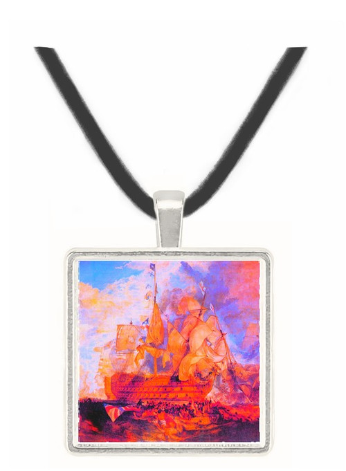 Battle of Trafalgar 2 by Joseph Mallord Turner -  Museum Exhibit Pendant - Museum Company Photo