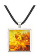 Battle of Trafalgar by Joseph Mallord Turner -  Museum Exhibit Pendant - Museum Company Photo
