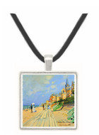 Beach at trouville by Monet -  Museum Exhibit Pendant - Museum Company Photo