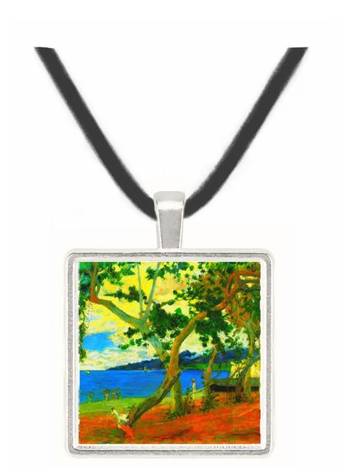 Beach Scene 2 by Gauguin -  Museum Exhibit Pendant - Museum Company Photo