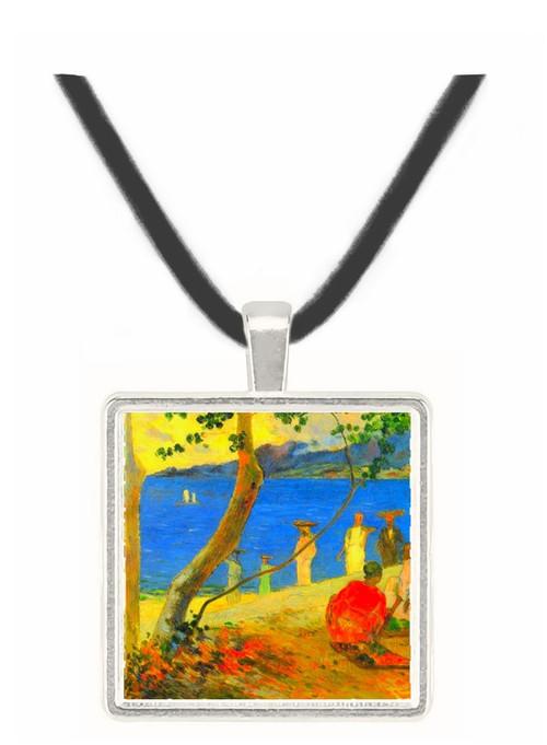 Beach Scene by Gauguin -  Museum Exhibit Pendant - Museum Company Photo