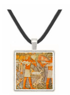 Bearers of Offerings - National Museum Library -  Museum Exhibit Pendant - Museum Company Photo