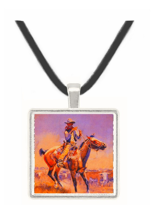 Beef of the Fighters - Charles M. Russell -  Museum Exhibit Pendant - Museum Company Photo
