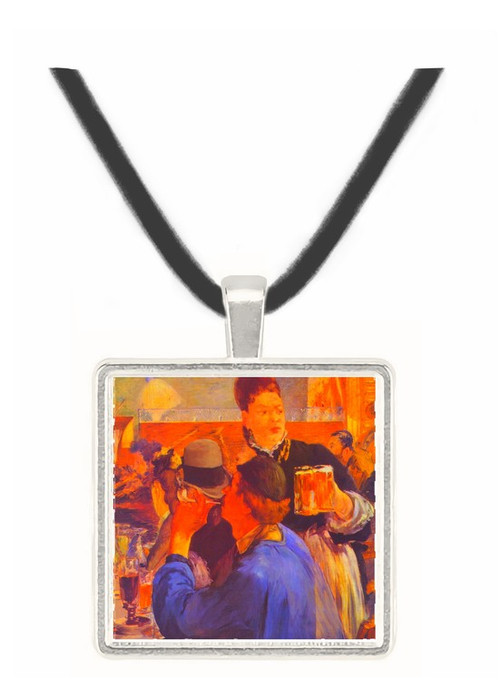 Beer Waitress by Manet -  Museum Exhibit Pendant - Museum Company Photo