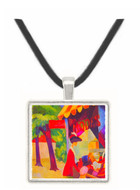 Before Hutladen (woman with a red jacket and child) by Macke -  Museum Exhibit Pendant - Museum Company Photo