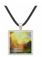 Between the Sierra Nevada Mountains by Bierstadt -  Museum Exhibit Pendant - Museum Company Photo