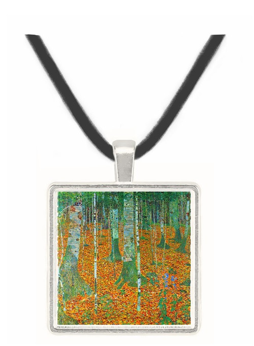 Birch Forest by Klimt -  Museum Exhibit Pendant - Museum Company Photo
