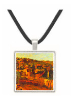 Blue Roots at Rouen by Gauguin -  Museum Exhibit Pendant - Museum Company Photo