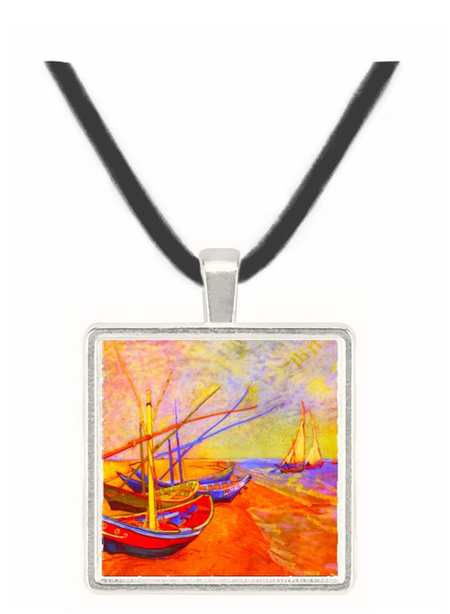 Boats of Saintes-Maries by Van Gogh -  Museum Exhibit Pendant - Museum Company Photo