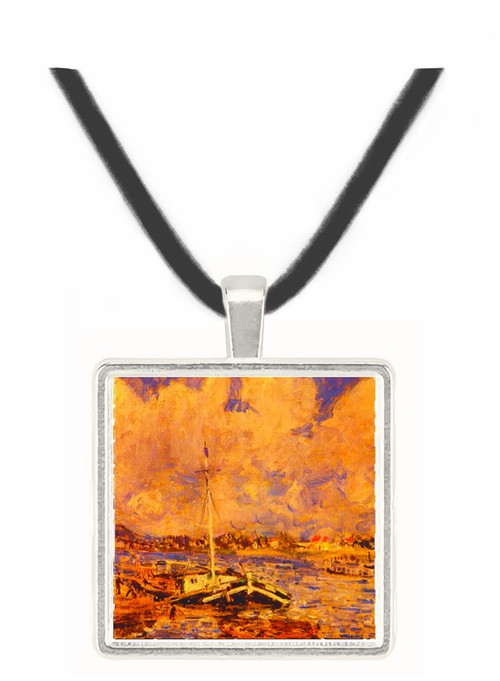 Boats on the Seine - Alfred Sisley -  Museum Exhibit Pendant - Museum Company Photo