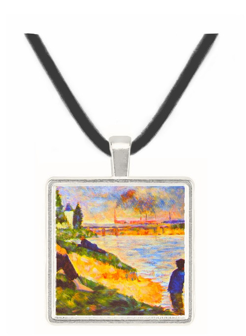 Boy with Horse by Seurat -  Museum Exhibit Pendant - Museum Company Photo
