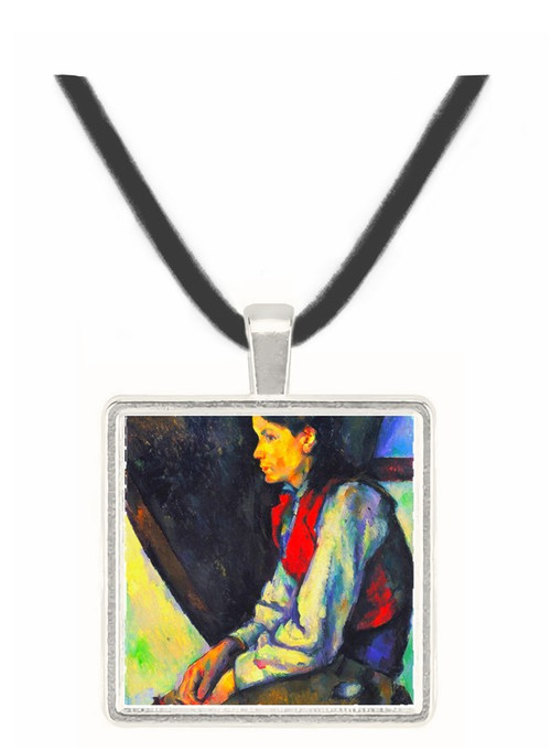 Boy with Red Vest by Cezanne -  Museum Exhibit Pendant - Museum Company Photo