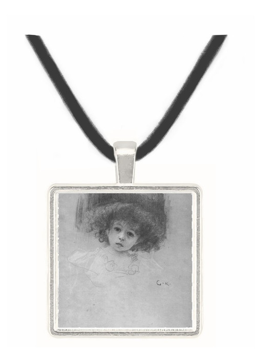 Breast image of a child by Klimt -  Museum Exhibit Pendant - Museum Company Photo