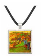 Breton Shepherd by Gauguin -  Museum Exhibit Pendant - Museum Company Photo