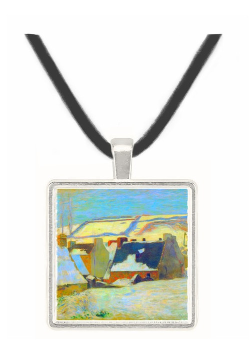 Breton Village in Snow by Gauguin -  Museum Exhibit Pendant - Museum Company Photo