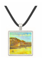 Bridge and Port of Port-en-Bessin by Seurat -  Museum Exhibit Pendant - Museum Company Photo