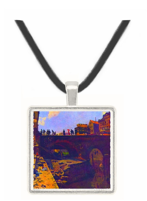 Bridge in a French city by Lepine -  Museum Exhibit Pendant - Museum Company Photo