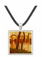 Bridge of Mantes - Jean Baptiste Camille Corot -  Museum Exhibit Pendant - Museum Company Photo