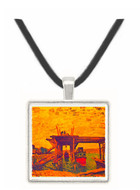 Bridge under construction by Sisley -  Museum Exhibit Pendant - Museum Company Photo