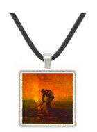 Burning Weeds -  Museum Exhibit Pendant - Museum Company Photo