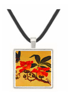 Butterfly and Flowers - unknown artist -  Museum Exhibit Pendant - Museum Company Photo