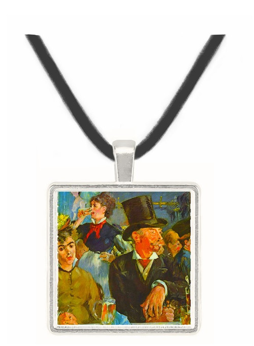 Cafe Concert by Manet -  Museum Exhibit Pendant - Museum Company Photo