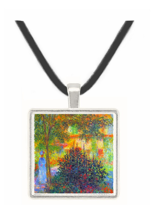 Camille in the garden of the house in Argenteuil by Monet -  Museum Exhibit Pendant - Museum Company Photo