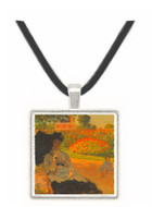 Camille in the garden with Jean and his nanny by Monet -  Museum Exhibit Pendant - Museum Company Photo