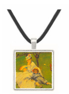 Camille Monet and her son Jean in the garden of Argenteuil by Renoir -  Museum Exhibit Pendant - Museum Company Photo