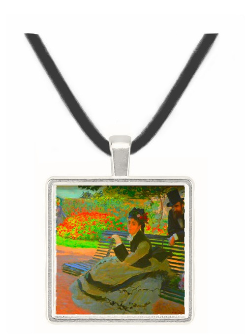 Camille Monet on a garden bench -  Museum Exhibit Pendant - Museum Company Photo
