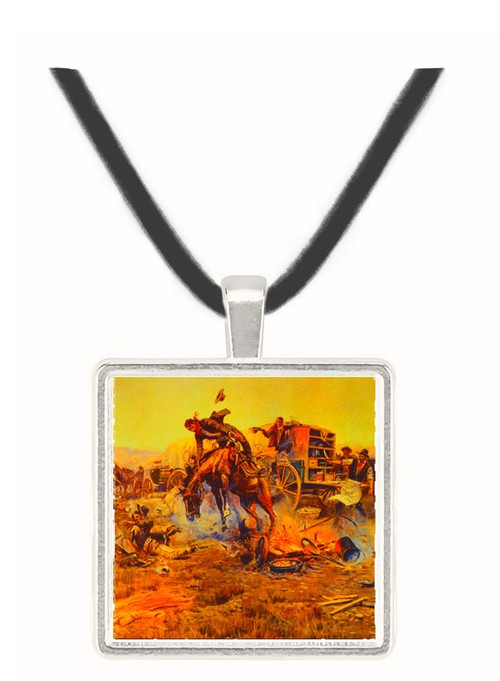 Camp Cooks Troubles - Charles M. Russell -  Museum Exhibit Pendant - Museum Company Photo