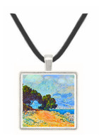 Cape Martin in Menton by Monet -  Museum Exhibit Pendant - Museum Company Photo
