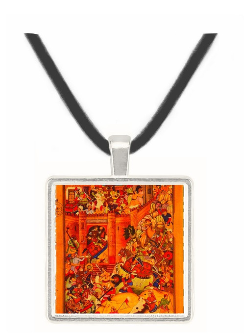 Capture of Chinese Town by Genghis Khan - James Pollard -  Museum Exhibit Pendant - Museum Company Photo