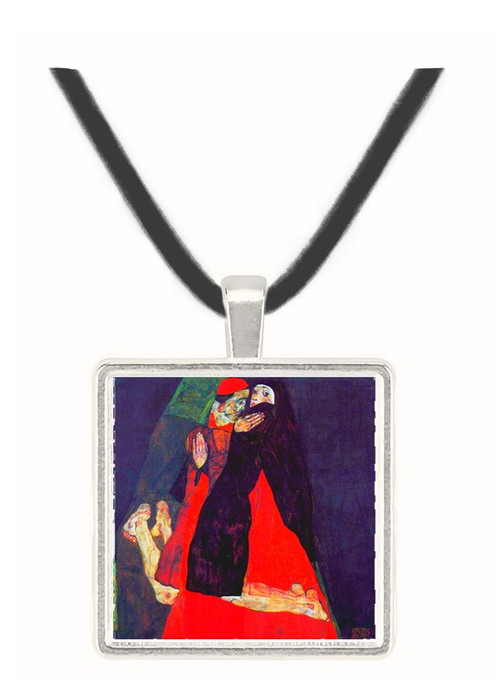 Cardinal and Nun or The caress by Schiele -  Museum Exhibit Pendant - Museum Company Photo