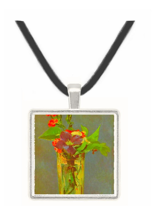 Carnations and Clematis in a Crystal Vase by Edouard_Manet -  Museum Exhibit Pendant - Museum Company Photo