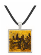 Carriage and Three Gentlemen on... - Constantin Guys -  Museum Exhibit Pendant - Museum Company Photo