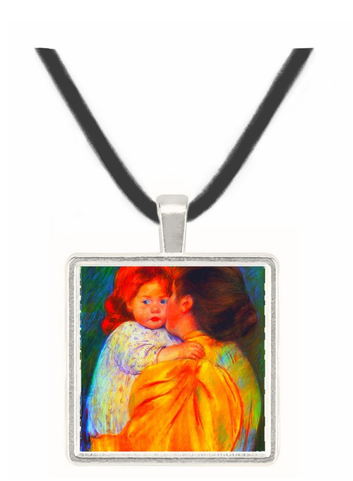 Cassatt Mary - Maternal Kiss 1896 -  Museum Exhibit Pendant - Museum Company Photo