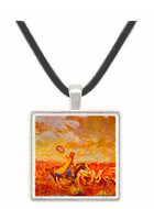 Cattle Stampede - Novgorod School - Tretyakov Gallery -  -  Museum Exhibit Pendant - Museum Company Photo