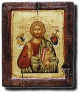 Christ - Icon on Old Wood - Photo Museum Store Company