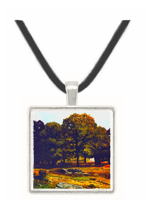 Chestnut Avenue in La Celle-Saint-Cloud by Sisley -  Museum Exhibit Pendant - Museum Company Photo
