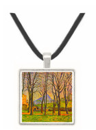 Chestnut Trees in Jas de Bouffan by Cezanne -  Museum Exhibit Pendant - Museum Company Photo