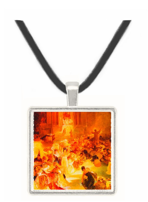 Christ driving the traders from the temple by Joseph Mallord Turner -  Museum Exhibit Pendant - Museum Company Photo