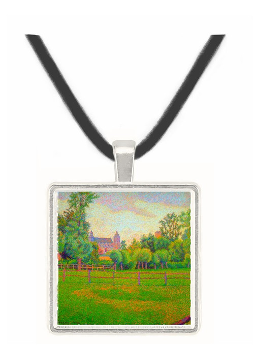 Church at Gisors by Pisarro -  Museum Exhibit Pendant - Museum Company Photo