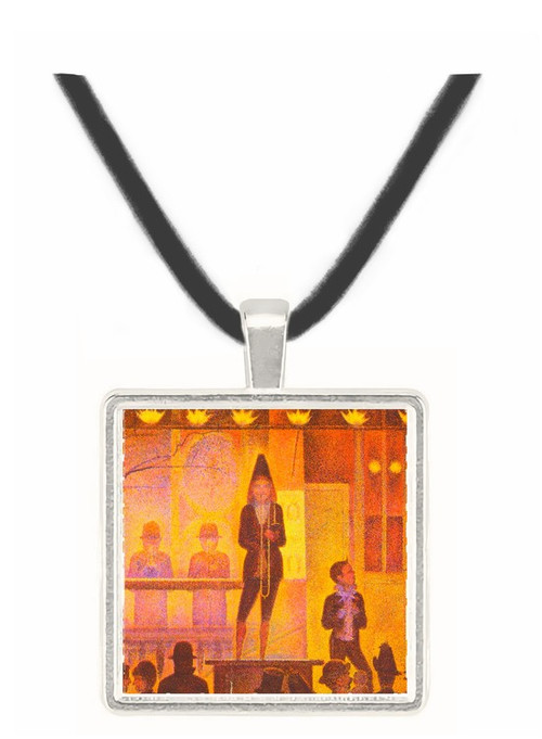 Circus parade by Seurat -  Museum Exhibit Pendant - Museum Company Photo