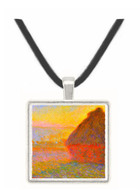 Claude Monet - Graystacks I -  Museum Exhibit Pendant - Museum Company Photo
