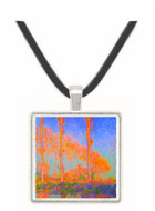 Claude Monet - Poplars at Philadelphia -  Museum Exhibit Pendant - Museum Company Photo